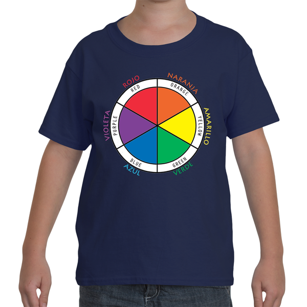 Bilingual T-Shirt- Color Wheel in Spanish and English
