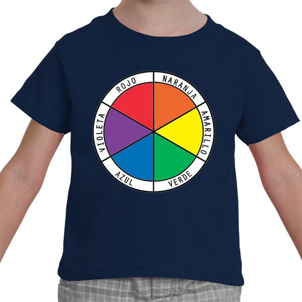 Toddler T-Shirt - Spanish Color Wheel