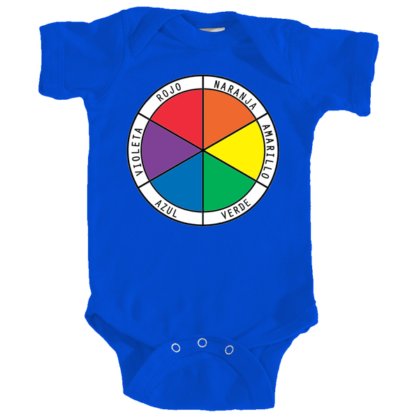 Onesie - Color Wheel in Spanish