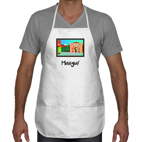 Mangia Apron with Italian Scenery