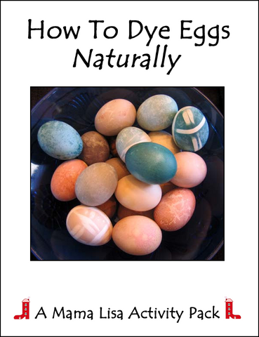 How To Dye Eggs Naturally - Activity Pack