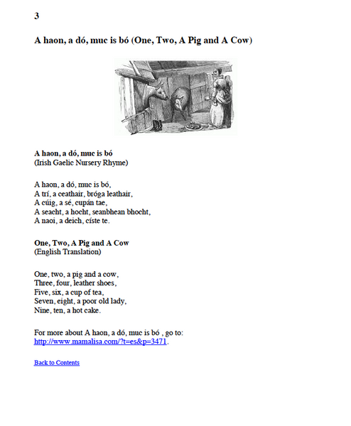 Irish Kids Songs & Rhymes Ebook