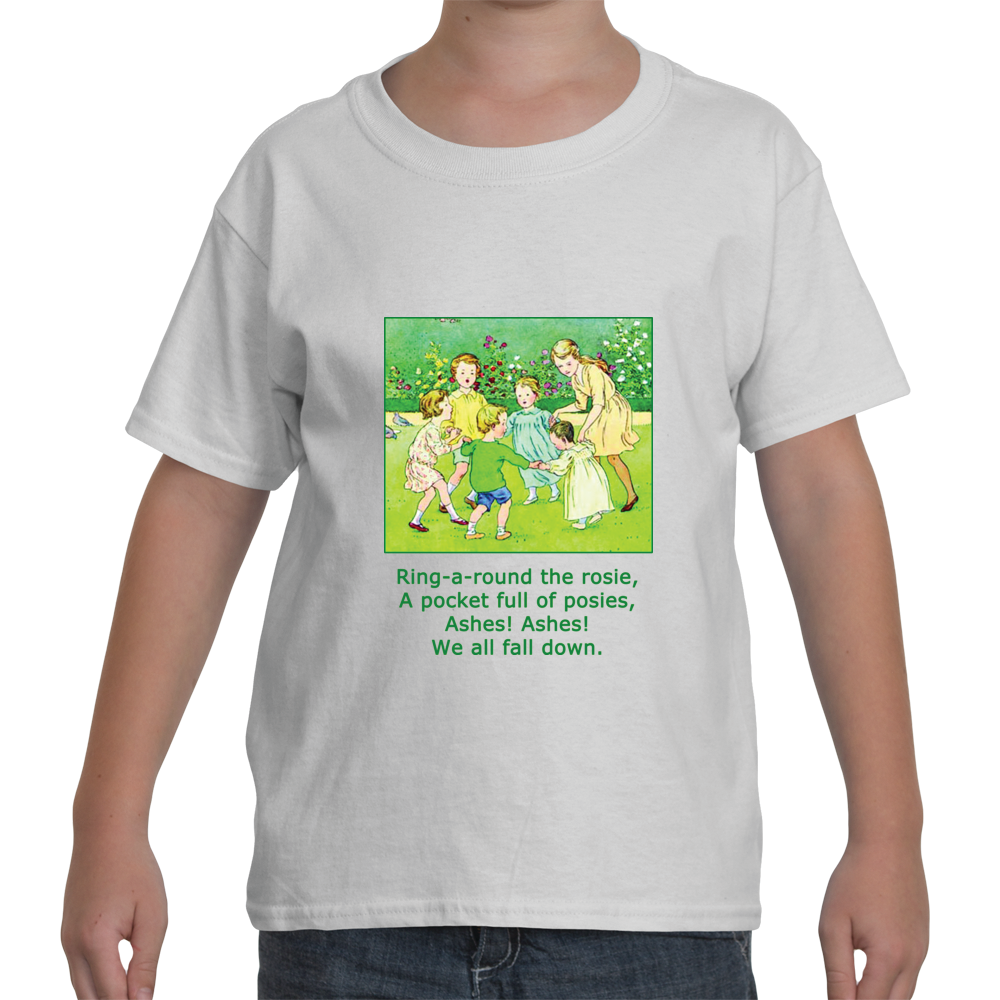 """Ring Around the Rosie"" Kids White T-Shirt"