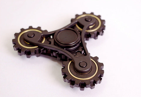 Mechanic Tri-Bar Plastic Spinner with Spinning Gears