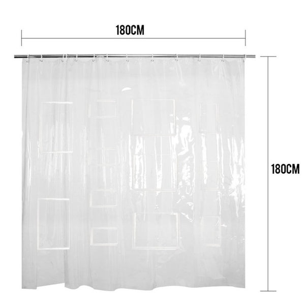 Clear Shower Curtain With Tablet Pocket
