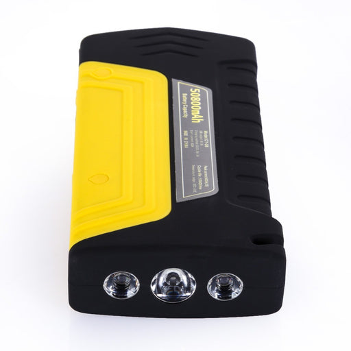 50800mAh Car Booster Battery Car Jump Starter  5 LED Mini Power Bank Safety Hammer Car Air Compressor Pump UK Plug Top Quality