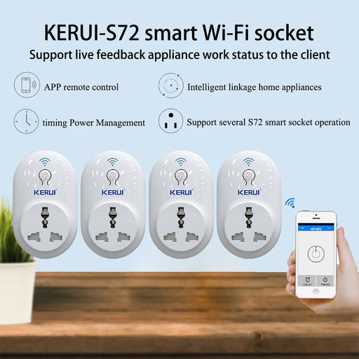 4pcs/lot KERUI Smart WiFi Remote Control Timer / Delay Socket Outlet Switch,IOS Android APP Control EU US UK AU Standard Power