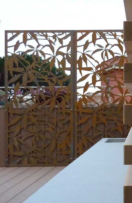 Corten Outdoor Screens Logical Space Design