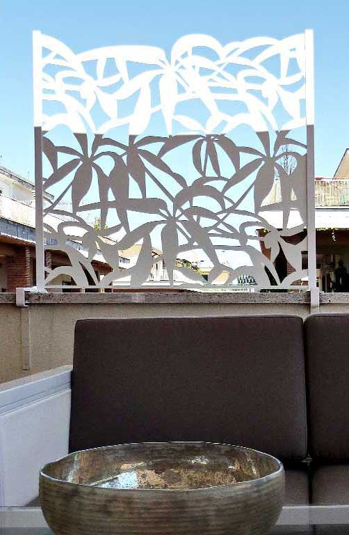 Schefflera terrace detail panel with open top design