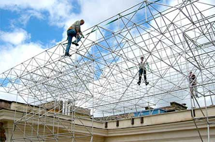 System 180 roof steel structure installation