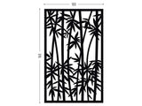 Bamboo black screen lasercut aluminum outdoor room divider