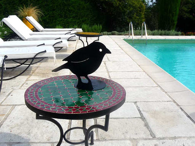 Black bird aluminum lasercut profile design for garden, pool and home decoration