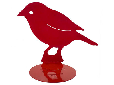 Red bird aluminum lasercut profile design for garden and home decoration