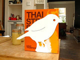 White bird bookend aluminum lasercut profile design for home decoration