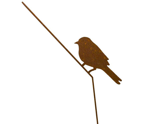 CorTen bird lasercut profile design for garden and home decoration