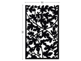 Figue tree lasercut black aluminum for terrace screens