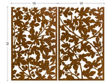 Figue tree perforated corten for terrace screens