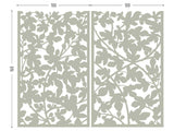 Figue tree lasercut grey aluminum for terrace screens