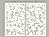Figue tree lasercut white aluminum for terrace screens