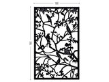 Parrots black screen lasercut aluminium terrace and room divider