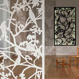 Parrots screen aluminium lasercut backlit wall decor and room divider