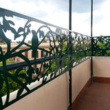 Parrots screen railing parapet lasercut aluminium terrace
