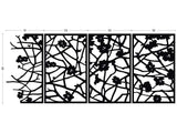 Quince black aluminum screens; outdoor room divider, wall decoration