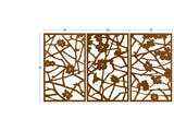 Quince corten screens outdoor room divider, wall decoration