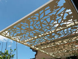 Quince screens pergola aluminum lasercut sunscreening