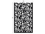 Schefflera black screen lasercut aluminium outdoor divider