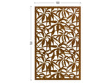 Schefflera corten screen lasercut outdoor divider