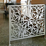 Schefflera screen lasercut aluminium balustrade room divider