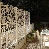 Schefflera screen lasercut aluminium planter terrace and room divider