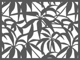 Schefflera texture perforated lasercut screen