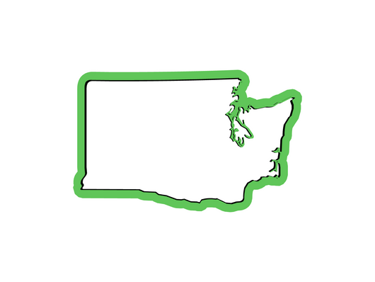 Green Washington State Cookie Cutter