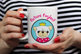 Free Shipping Worldwide  - Picture Pugfect - Cute Pug Dog Mug  [Gift Idea - Gift For Him or Her] Blue& Green