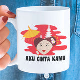 Free Shipping Worldwide -Aku Cinta Kamu- Indonesia [Gift Idea For Him or Her - Makes A Fun Present] I Love You - Indonesia