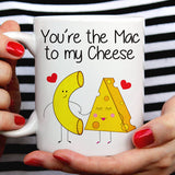Free Shipping Worldwide - Mac Love Not War - Cute Macaroni Mg [Gift Idea - Makes A Fun Present] [For Him / For Her] Cute Mac and Cheese Mug