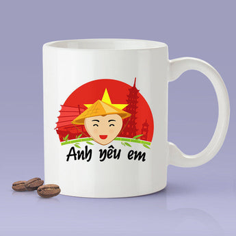Free Shipping Worldwide - Vietnamese [Gift Idea For Him or Her - Makes A Fun Present] I Love You - Vietnam