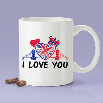 Free Shipping Worldwide - I Love You / British Lover Mug - London, England Mug [Gift Idea For Him or Her - Makes A Fun Present] I Love You