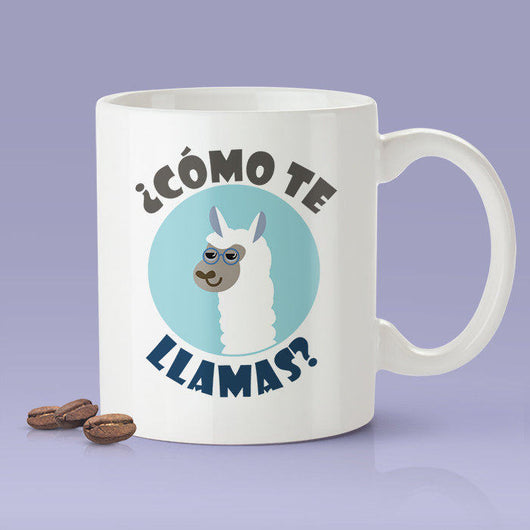 Free Shipping Worldwide - Cute Llama Mug - ¿cómo te llamas?  [Gift Idea - Gift For Him or Her] Blue