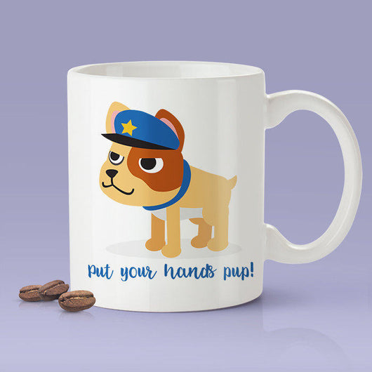 Free Shipping Worldwide - Put Your Hands Pup - Cute Puppy Mug [Gift Idea - Makes A Fun Present]