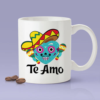Free Shipping Worldwide - Mexican Lovers Mug - Te Amo [Gift Idea For Him or Her - Makes A Fun Present] I Love You - Mexico
