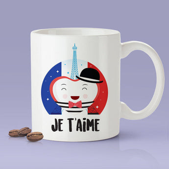 Free Shipping Worldwide- Je T'aime - French Lover Mug [Gift Idea - Makes A Fun Present] I Love You