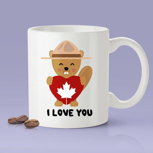 Free Worldwide Shipping - I Love You - Canadian Beaver [Gift Idea For Him or Her - Makes A Fun Present] I Love You Canadian Mug - Canada