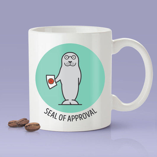 Seal of Approval - Cute Seal Mug [Gift Idea - Makes A Fun Present / Teacher Gift [Blue & Green]