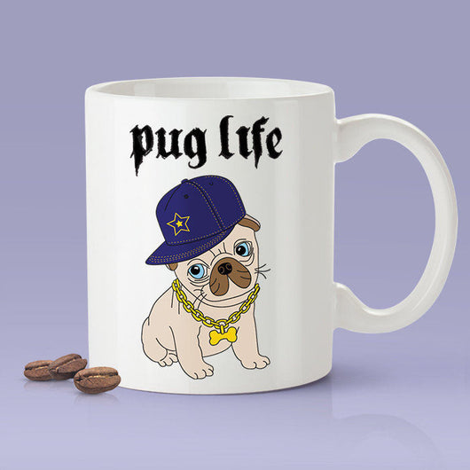 Pug Life - Cute Pug Dog Mug  [Gift Idea - Gift For Him or Her] Blue