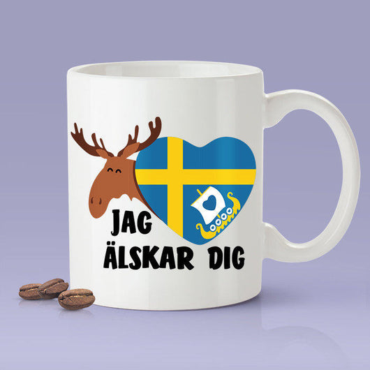 Free Shipping Worldwide - Swedish Lover Mug [Gift Idea For Him or Her - Makes A Fun Present] I Love You - Sweden