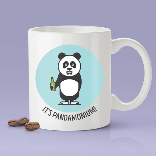 Free Shipping Worldwide - It's Pandamonium Coffee Mug  [Gift Idea - Makes A Fun Present] Blue