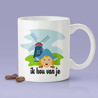 Free Shipping Worldwide - I Love You -  Dutch Gift Idea [For Him or Her - Makes A Fun Present]  ik hou van je - The Netherlands